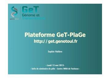 Plateforme Plateforme GeT-PlaGe