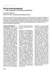 GIS og fysisk planlægning - Mod en agenda for forskning og udvikling