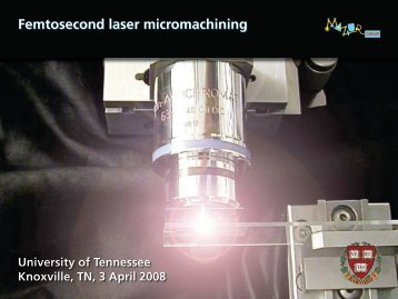 Low-energy machining - Harvard University