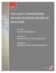 IRB Tax Audit Framework 2013_Tax Audit, Petroleum Tax Audit ...