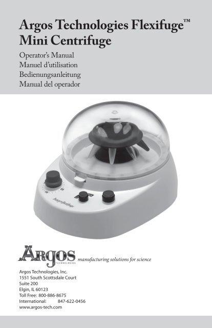 Argos C0301 8 Place FlexiFuge Centrifuge Rotor for 0.2mL PCR Tubes