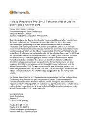 Adidas Response Pro 2012 Torwarthandschuhe im ... - Firmendb