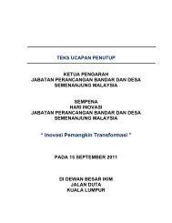 """"""" Inovasi Pemangkin Transformasi """" - JPBD"""