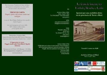 Il Pieghevole - Archivio di Stato di Rieti