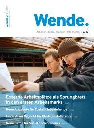 Neue Angebote für Sozialhilfebeziehende - firma-web.ch