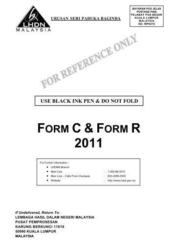 FORM C & F 2011