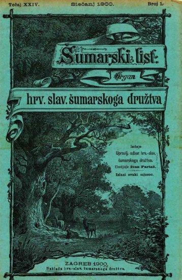 ÅUMARSKI LIST 1/1900