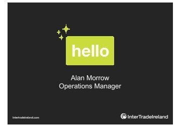 Alan Morrow Operations Manager - Enterprise Europe Ireland