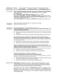 zhang, yichi - Department of Chemistry and Biochemistry - University ...