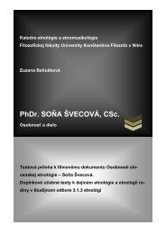 Soňa ŠVECOVÁ, rod - Ústav etnológie SAV