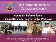Australian Defence Force Financial Literacy Program in the ... - KWSP
