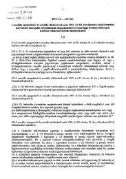 2013. évi . . . törvény a szociális igazgatásról és ... - Parlament