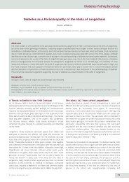 Diabetes Pathophysiology - Touch Endocrinology