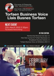 Torfaen Business Voice - February 2015