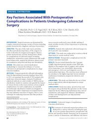 Key Factors Associated With Postoperative Complications in ...