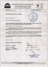 Gred VU6, Universiti Sains Islam - Jabatan Pendaftar