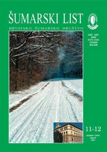 ÅUMARSKI LIST 11-12/2007 - HÅD