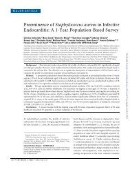 Preeminence of Staphylococcus aureus in Infective Endocarditis: A ...