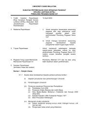 UNIVERSITI SAINS MALAYSIA - Jabatan Pendaftar