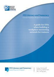 Employers Guide: Good Practice on establishing workplace mentoring