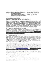 Jun 2010 - Jabatan Pendaftar - Universiti Sains Malaysia