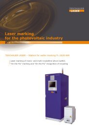 Laser marking for the photovoltaic industry