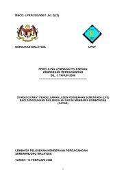 MECD: LPKP/20/S/656/1 Jld. 2(25) KERAJAAN MALAYSIA ... - SPAD