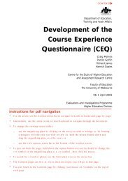 Development of the Course Experience Questionnaire (CEQ)