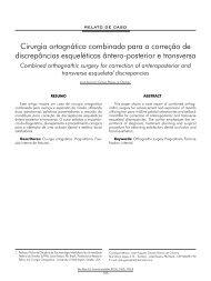 Cirurgia ortognática combinada para a correção de ... - ABCCMF