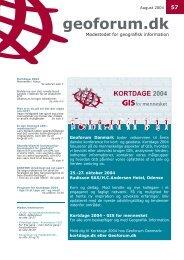 Konferenceprogram, tirsdag d. 26. oktober 2004 - GeoForum Danmark