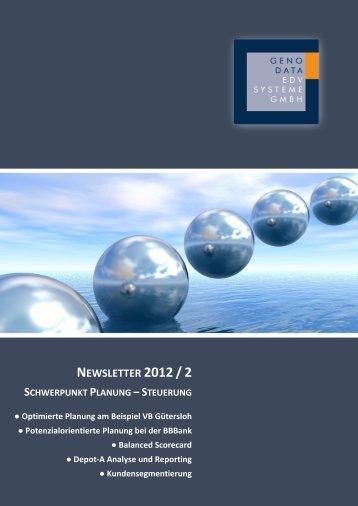 Newsletter 2012 Ausgabe 2 -  GenoData GmbH Homepage