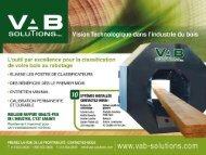 sommaire des équipements l'optimiseur - VAB Solutions