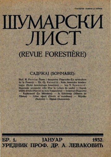 ÅUMARSKI LIST 1/1932