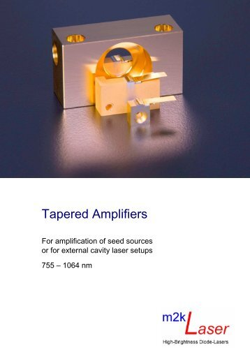 Product flyer tapered amplifiers - m2k-laser GmbH