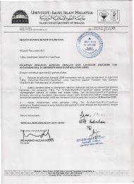 (Akademik & Antarabangsa) di Universiti Sains Islam Malaysia (USIM)