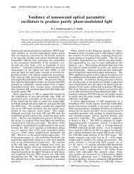 Tendency of nanosecond optical parametric oscillators to produce ...