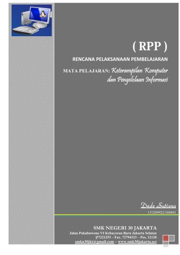 ( RPP ) - smk negeri 30 jakarta