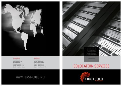 HOUSING & HOSTING INTERFACE - FIRST COLO GmbH