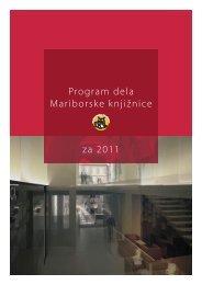 Program dela Mariborske knjižnice za 2011 - Mariborska knjižnica