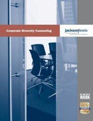 Corporate Diversity Counseling Brochure - Jackson Lewis