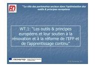 """WT.1: """"Les outils & principes européens et leur soutien à la ..."""