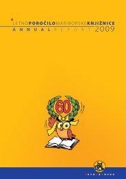Letno poročilo 2009 - Mariborska knjižnica