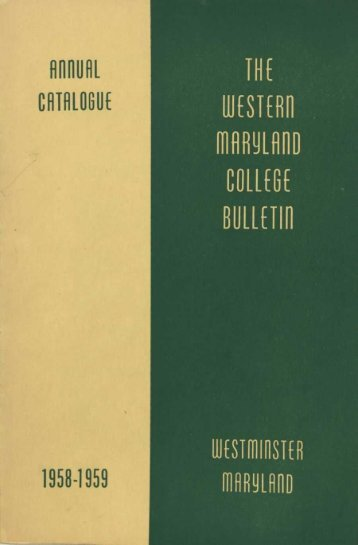 Catalog, 1958-1959 - Hoover Library