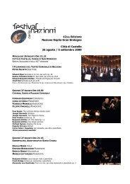 Programma 42ma edizione Festival delle Nazioni