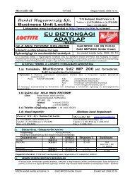 EU BIZTONSÁGI ADATLAP - Microsolder Kft.