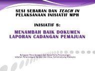 Inisiatif 8 : Menambah Baik Manual LCP+Format - JPBD