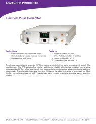 ADVANCED PRODUCTS Electrical Pulse Generator - Calmar Laser