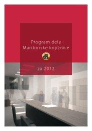 Program dela Mariborske knjižnice za 2012 - Mariborska knjižnica
