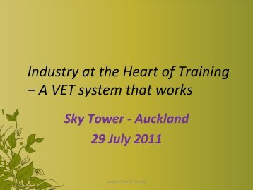 Enabling success in the vocational education and training ...