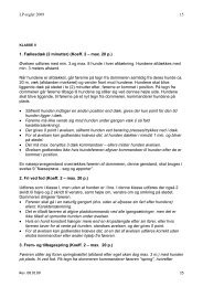 LP-regler 2009 15 1. Fællesdæk (2 minutter) (Koeff. 2 ... - DKK Viby